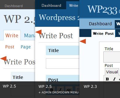 different headers across different WP versions